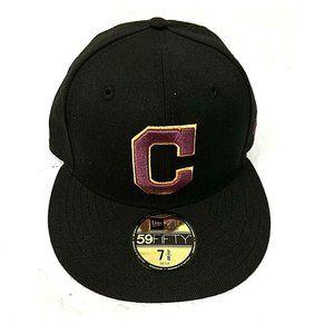 New Era MLB Cleveland Indians 59FIFTY Hat Black